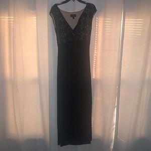 Black Lace & Sequin Formal Dress from Macy's